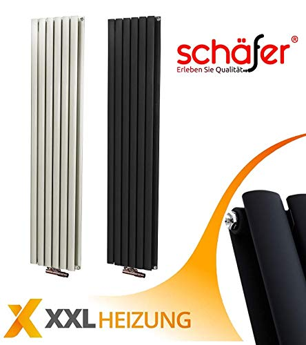 Design Heizkörper Schäfer ® VENUS Paneelheizkörper (600 x 1800 mm, Weiß)
