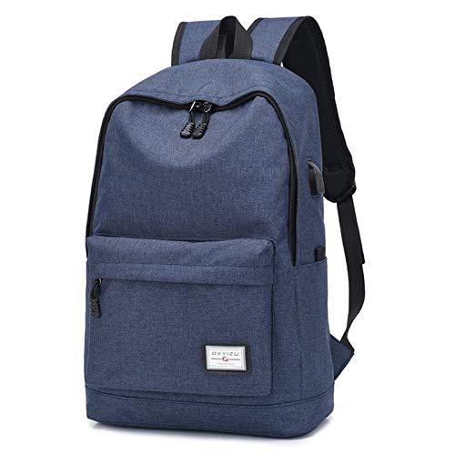 GO-AHEAD Mochila para hombre, antiladrón, mochila de viaje, mochila para ordenador portátil, mochila escolar, para niños, escuela, escuela, escuela, (color: azul profundo)