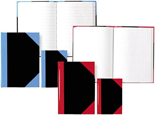 STYLEX 29117 Kladde A7, 192 Seiten kariert, schwarz mit roten Ecken