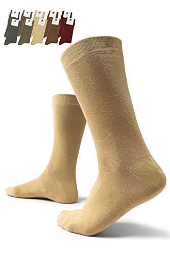 Burnell & Son Herren Premium Business Socken 10er Pack Braun, Grün, Khaki, Beige, Rot 43-46