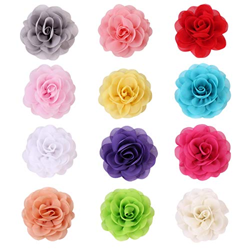 Petmany 12 Pack Cat Dog Collar Flowers,Pet Bow Tie Charm Collars for Puppy Kitten Collar Grooming Accessories