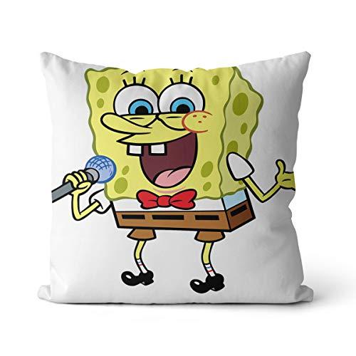 3D-print omarmingskussen Spongebob wattenbol, kubus, avontuur, brutale kleine spons, animatie, grappig, familie, handeling, animatiekussen, 45 x 45 cm thuis stoelkussen