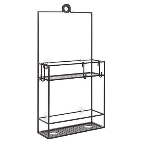 Umbra 023461040  Cubiko Shower Caddy Black Metal Shower Caddy Over the Shower Head