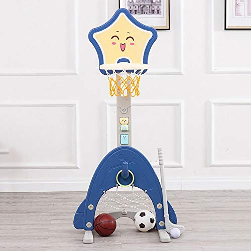 HANXIAODONG Toddler Basketball Hoop Kids Basketball Hoop Stand Set Adjustable Height with Ball Net Play Sport Games for Toddlers Boys Girls Children Indoors Outdoors Toys Best Gift for Kids