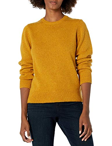 Pendleton Damen Shetland Crew Sweater Pullover, Gold Heather, Mittel