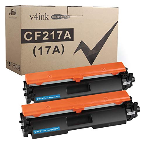 V4INK 2PK Compatible Toner Cartridge Replacement for HP 17A CF217A Toner Cartridge Black Ink for use in HP Laserjet Pro MFP M130fw M130nw M130fn M130a M102w M102a M130 M102 Printer