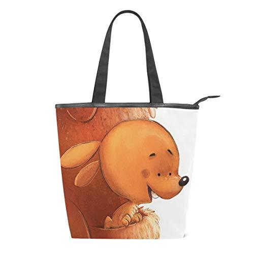 Bolso de lona para bebé, diseño de canguro, para mujer, con asa...
