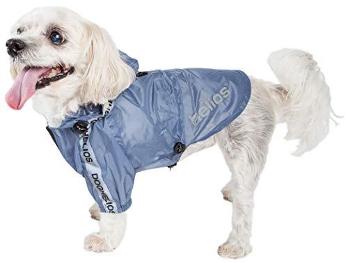 Dog Helios ® Torrential Shield Waterproof Multi-Adjustable Pet Dog Windbreaker Raincoat
