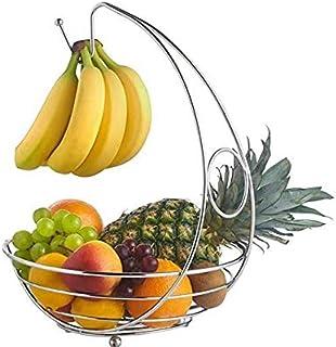 PetKids Corbeilles à Fruits Bol à Fruits avec Support à Bananes Bol de Stockage Bol de Fruits Corbeille Fruit, 30 * 40cm