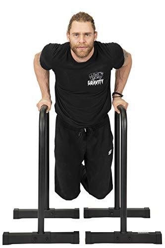 Gravity Fitness XL Pro Parallettes 2.0 - Nuovi manici da 38 mm - Dip bars per la ginnastica, Crossfit, uso domestico e commerciale