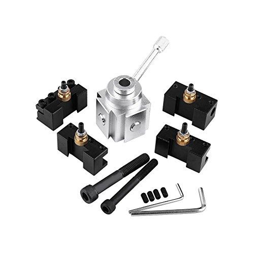 Soporte para poste de herramientas, juego de mini poste de herramienta de torno de cambio rápido de aleación de aluminio y juego de soporte
