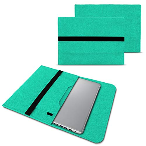 NAUC Notebook Tasche Hülle kompatibel für Lenovo Yoga C930 900 900 S 910 510 520 530 710 720 730 13,3-14 Zoll Filz Sleeve Schutzhülle Filz, Farben:Mint