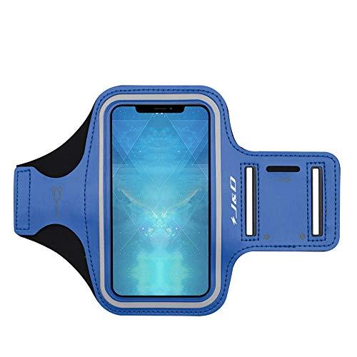 J&D Compatibile per Apple iPhone 11 PRO Max/iPhone XS Max/iPhone 8 Plus/iPhone 7 Plus/iPhone 6 Plus/iPhone 6s Plus Fascia da Braccio Sportiva, Bracciale con Portachiavi Slot & Connessione Auricolare