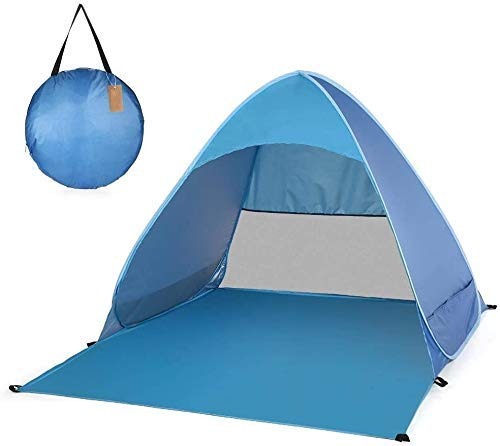 Pop Up Camping Beach Tienda Automático Pop Up Affion Impermeable Tienda Automática Portátil Playa Tienda Al aire libre Sol Shelter con bolsa de transporte Protección UV Adecuado for jardín familiar /
