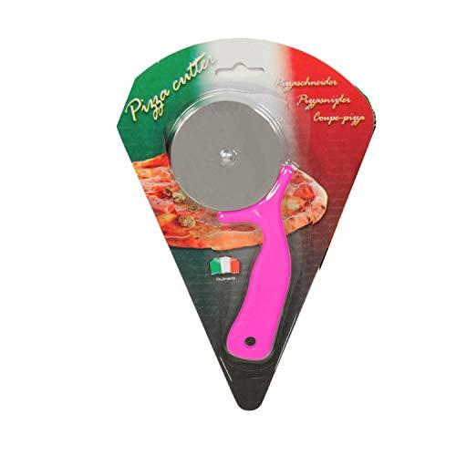 A.I.E. Pizzaschneider culinario 16cm Pizzacutter Messer Pizzaroller Flammkuchen Pizza-Schneider auch für Lahmacun & Pide geeignet (Rot)
