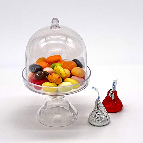 mini acrylic cake stand with lid - 6