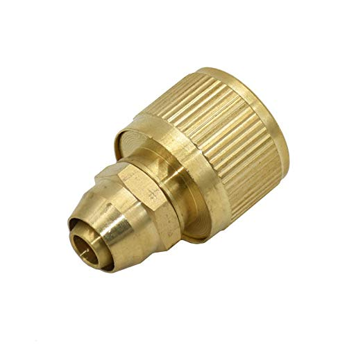 Sprinkler de césped 5pcs 3/8 pulgadas de latón Conector de manguera de 10 mm Rápida Adaptador de Pistola de agua 8/11 manguera de conexión de cobre de montaje .rociadores para la granja ( Color : A )