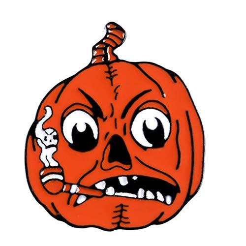 N/A. Alfileres de solapa de dibujos animados de Halloween para fiestas, broches de esmalte de metal calabaza, fantasma, caf, luna, bruja, accesorio de joyera para nios adultos