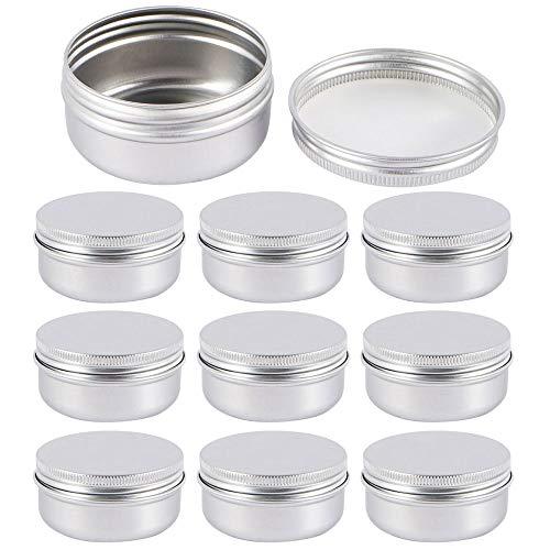 Lege Tin Jars, Mini Schroef Top Metalen blikjes Ronde Cosmetische Voorbeeld Potje Tin Containers met Deksels voor Lippenbalsem, Cosmetische, Snoep, Sieraden, Thee, DIY Ambachten