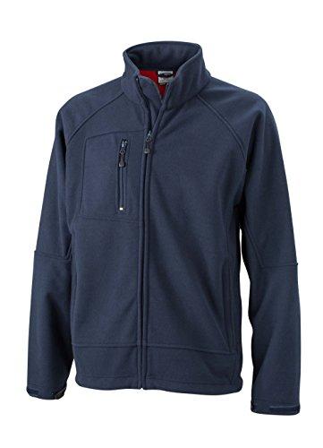 2Store24 Men's Bonded Fleece Jacket in Navy/Red Size: XL
