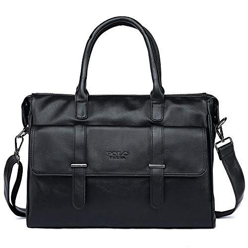 TnXan New Black Leather Berühmte Marke Business Männer Aktentasche Für Dokumente Beiläufige Große Kapazität Reise Mann Handtaschen