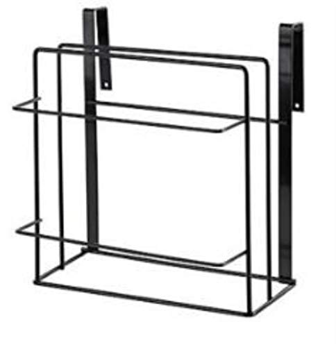 1 pieza de doble capa de hierro para gabinetes de cocina, estante, tabla de cortar, estante de almacenamiento, estantes, soporte para toallas de cocina, estante de perforación libre QA 180