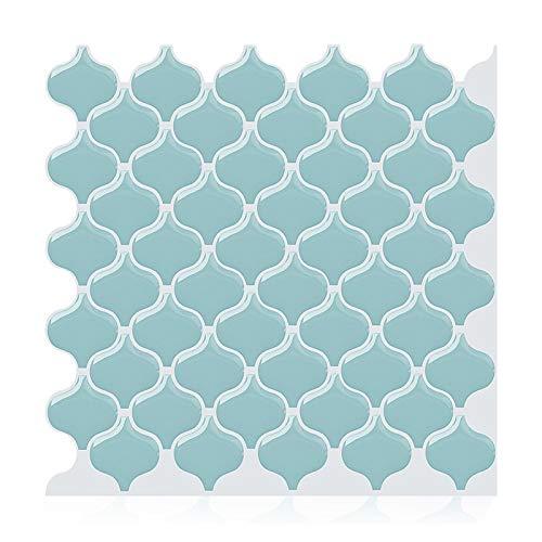 GuoQiang Zhou Mosaicos de vinilo autoadhesivo impermeable para pared, 3D, para cocina, 10 unidades
