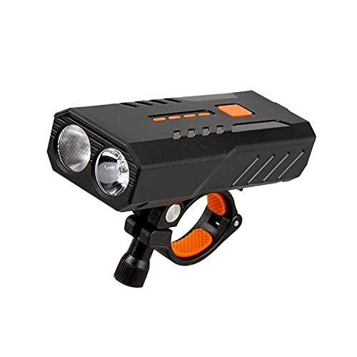 FGKLU 1600 Lumen Fahrradzubehör, USB Wiederaufladbar Fahrradlampe Vorne Fahrradlicht, 6 Lichtmodi LED Fahrradbeleuchtung, für Mountainbike und Rennrad,2400mah