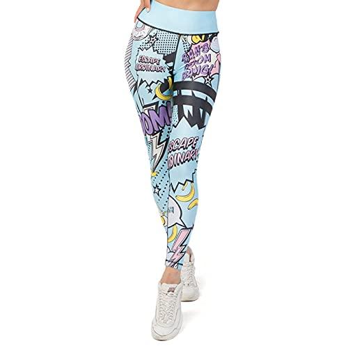 TENGCHUANGSM Patrón De Dibujos Animados Mujeres Pantalones De Yoga Sin Costuras Push Up Leggings Fitness Gym Deporte Correr Cintura Alta Entrenamiento Legging