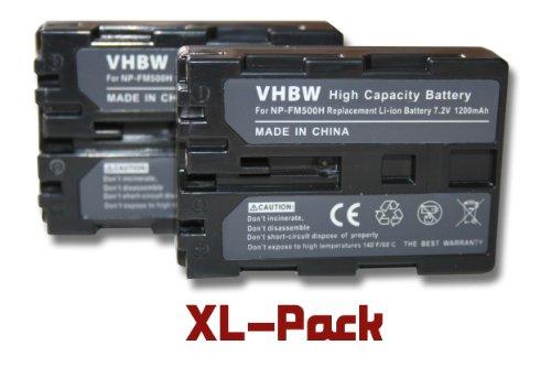 vhbw Set de 2X batería Li-Ion 1200mAh (7.2V) para cámara Compatible con...