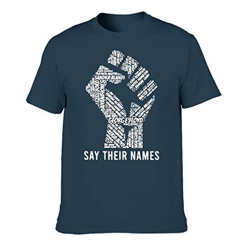 Digitaldruck Bunt grafisches Logo-T-Shirt für Freund Freundin Navy l