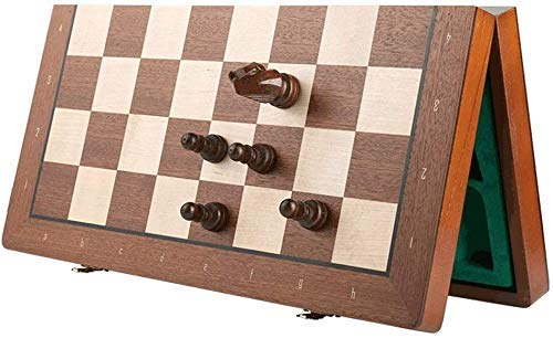 Chess set Game travel adults kids board Chess Folding Wooden Chess Set with Wooden Chess Pieces,Chess e Board Set with Storage Slots,Chess Set Wood Board e 2-Size Portable C