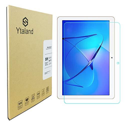Ytaland Protector de pantalla para Huawei MediaPad T3 10,  antihuellas,  sin burbujas,  vidrio templado para Huawei MediaPad T3 10 9.6 pulgadas Tablet