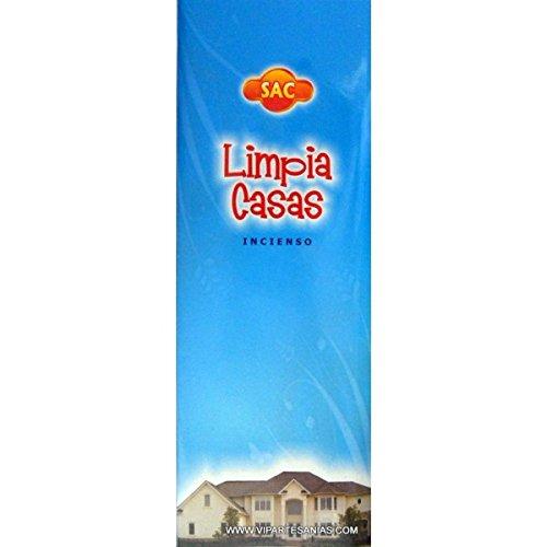Incienso SAC Limpia Casas olor a Sandalo y Rosa - Set de 6 paquetes hexagonales