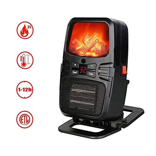 SAKURAM Mini Ventilador Eléctrico Calefactor Chimney