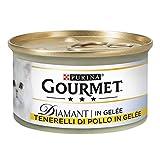 PURINA Gourmet Diamant Húmedo Gato tierelli de Pollo en gelée, 24 latas de 85 g Cada Paquete de 24 x 85 g