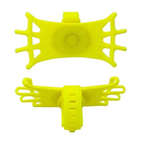 JUDVDX Soporte for teléfono de Bicicletas for los teléfonos Inteligentes de 4 a 6 Pulgadas, Soporte for teléfono Motocicleta universales, Soporte for el Manillar de la Bicicleta (Color : Yellow)