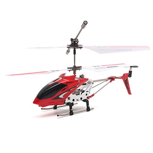 Syma S107G Helicóptero RC de 3 Canales con helicóptero de aleación con Giro Incorporado Rojo