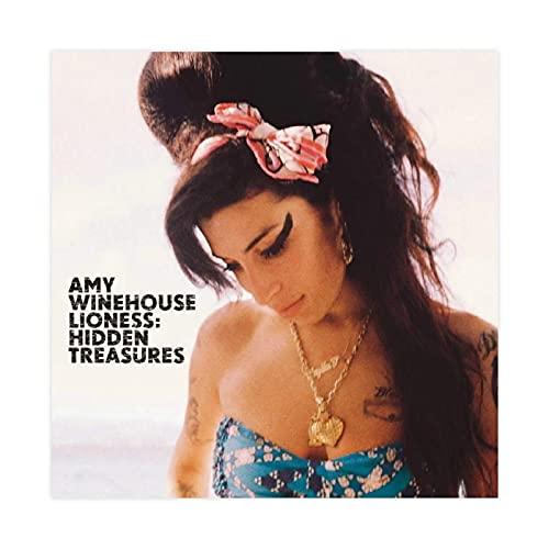 Amy Winehouse Lioness Hidden Treasures Leinwand-Poster, Schlafzimmer, Dekoration, Sport, Landschaft, Büro, Raumdekoration, Geschenk, 30 x 30 cm, ohne Rahmen