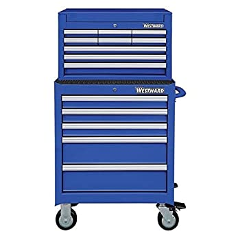 Westward 26 W Tool Chest and Cabinet Combination 14 Drawers Blue 49-5/8 H