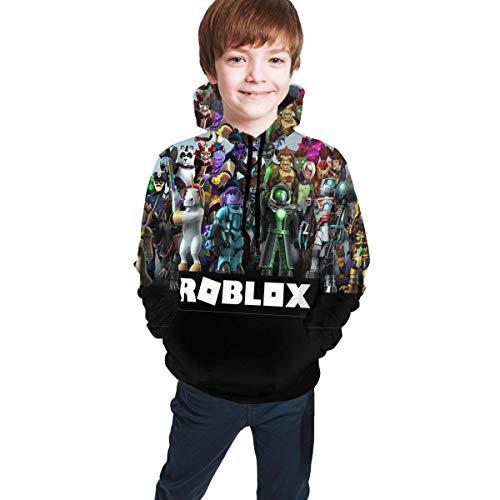 Maichengxuan Rob-Loxs - Felpa con cappuccio in pile con cappuccio, con tasca e cappuccio Rob-loxs 7 7-8 Anni