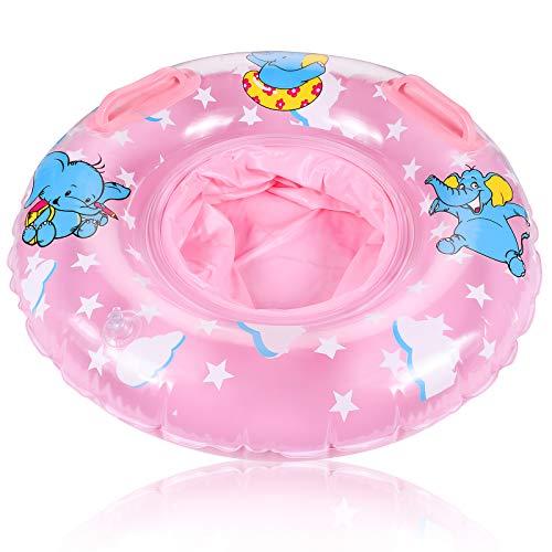 FGen Schwimmring Baby, Schwimmreifen für Babys, Elephant Schwimmsitz Baby, mit Sicherheitssitz, Geeignet für Babys 3-36 Monate Schwimmen Lernen, Schwimmtrainer Baby, Pulver
