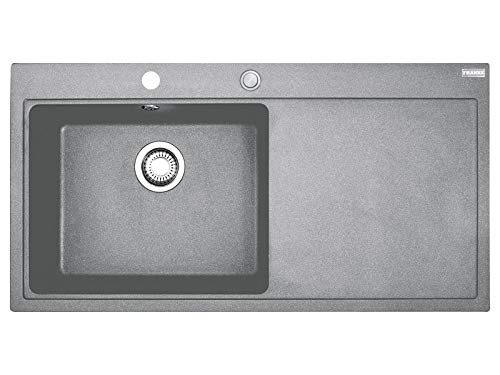 Franke Mythos MTG 611 Steingrau - 10875 Granitspüle Exzenterbetätigung