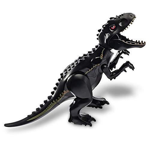 Large Black Indominus Tyrannosaurus Rex Building Blocks Jurassic Dinosaur Toys for Kids 3-5-7 Sticker Sheet Included