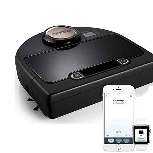 Neato Robotics Botvac DC02 Connected - Robot aspirapolvere automatico cattura peli animali con mappatura laser e Wi-Fi - Alexa e Google Home Friendly