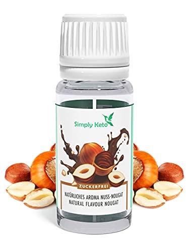 Simply Keto Flavour Drops Nuss-Nougat Natürliches Aroma 10ml - Geschmackstropfen ohne Kalorien - Flavor Drops für Shakes, Porridge uvm - Aromatropfen zum Süßen ohne Zucker - Kalorienfrei & Vegan