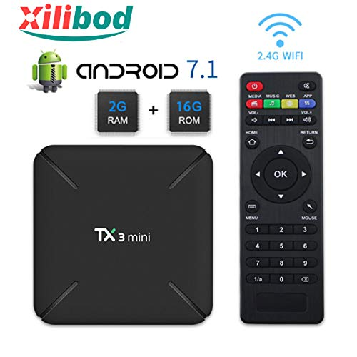 Xilibod TX3 MINI Android 7.1 TV BOX 2GB/16GB 4K TV Amlogic S905W Quad core H.265 Decoding 2.4GHz WiFi - 2GB RAM/16GB ROM Smart TV Box