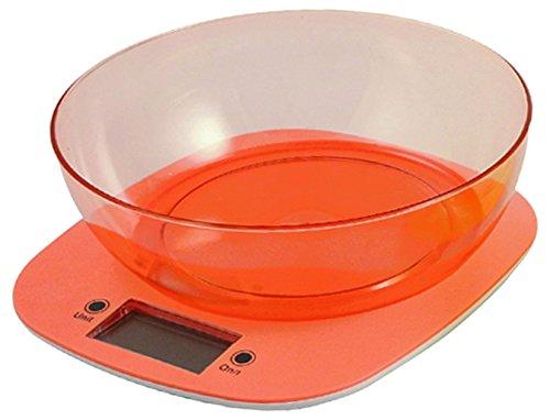 Kooper 2405727 Bilancia Cucina Digitale 5 Kg Assortita, Arancione/Giallo/Verde/Fucsia