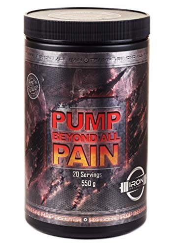 PUMP beyond all PAIN | HOGE DOSED Hardcore Pre Workout Pump-Booster L-Arginine L-Citrulline Glycerol (Glycopump) Voedingssupplement met aminozuur voor bodybuilding, spieropbouw, krachttraining FLEX