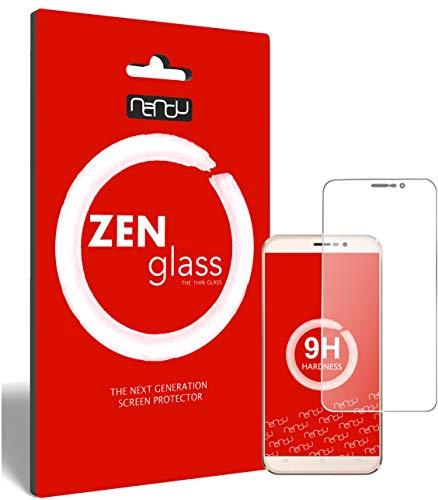 ZenGlass Flexible Glas-Folie kompatibel mit Cubot Dinosaur Panzerfolie I Display-Schutzfolie 9H I (Kleiner Als Das Gewölbte Display)